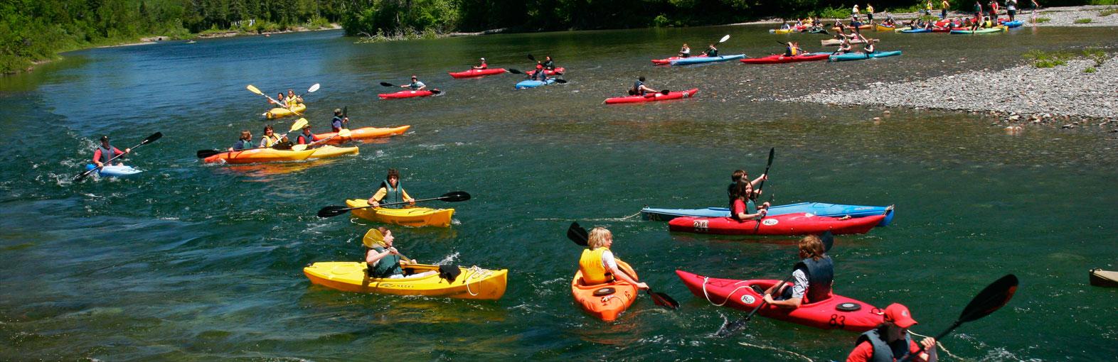 Kayak sur le trajet Familial, Cime Aventures
